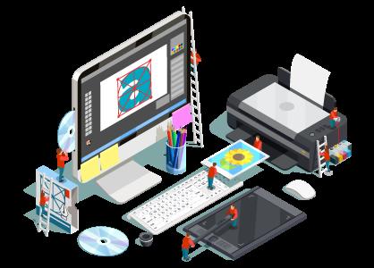 ロゴマークの納品データが多いので印刷(プリント)時の互換性も安心。